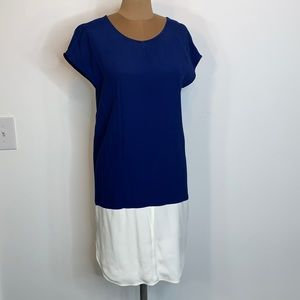 Madewell Shift Dress Blue White Colorblock Small